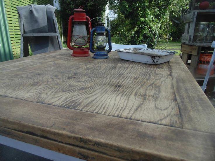 2 nd table I eva did up! Oak