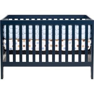 navy crib- Would go perfect in a red room