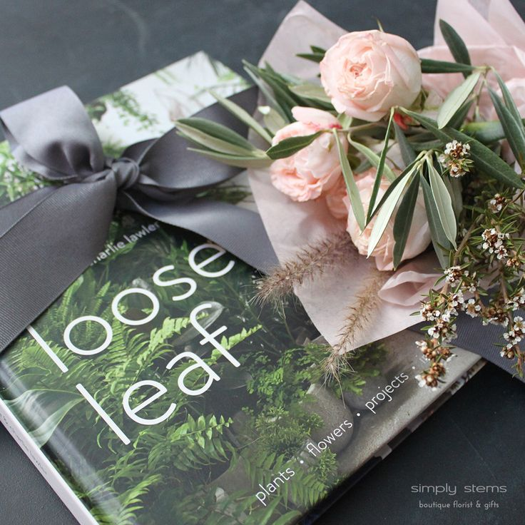 Loose Leaf Book & Flowers by Simply Stems Boutique Florist for Mothers Day Gift Ideas