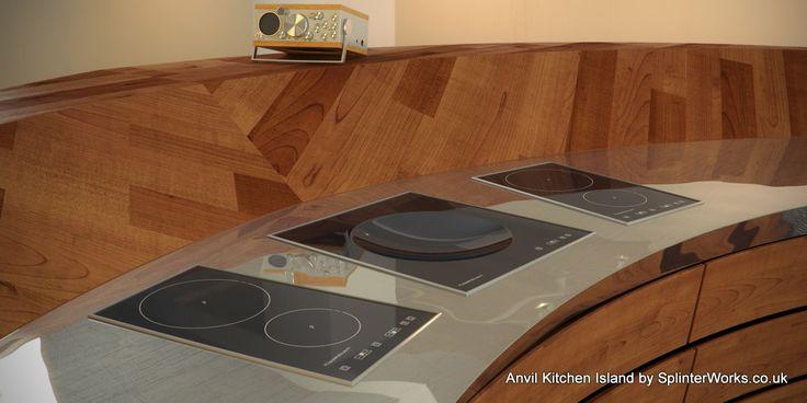 Anvil kitchen island concept
