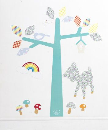 Baby Nursery.  Spring/Summer 2014. Little Bird by Jools Wall Stickers. Beautiful elements of the Little Bird range in a great pack of 23 removable, re-usable wall stickers. Loved by Jools, made by Mothercare. #Nursery #Baby #Vintage