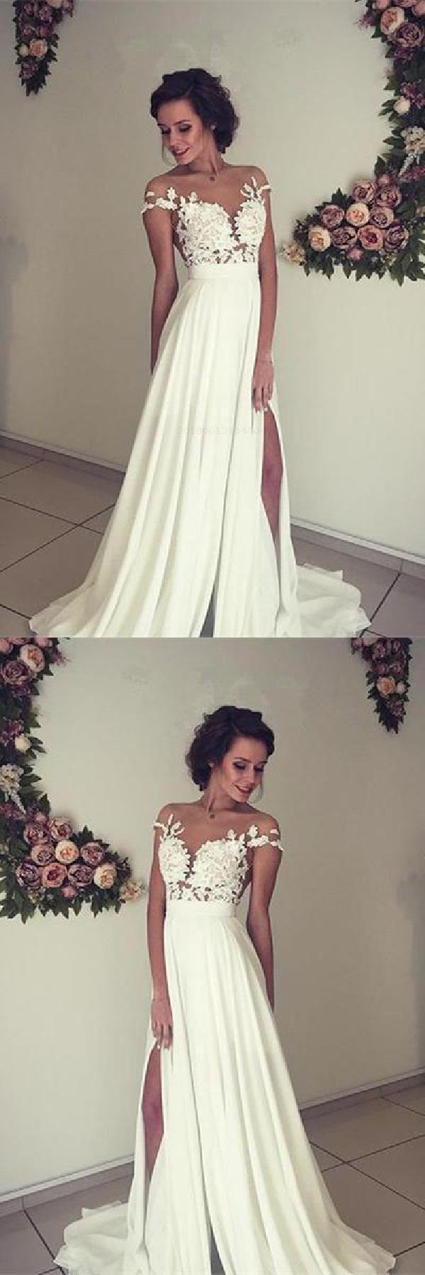 Simple Wedding Dresses Custom Wedding Dresses Wedding Dresses Chiffon Ivory Weddin Short Sleeve Wedding Dress Simple Lace Wedding Dress Wedding Dresses 2018 [ 1800 x 600 Pixel ]