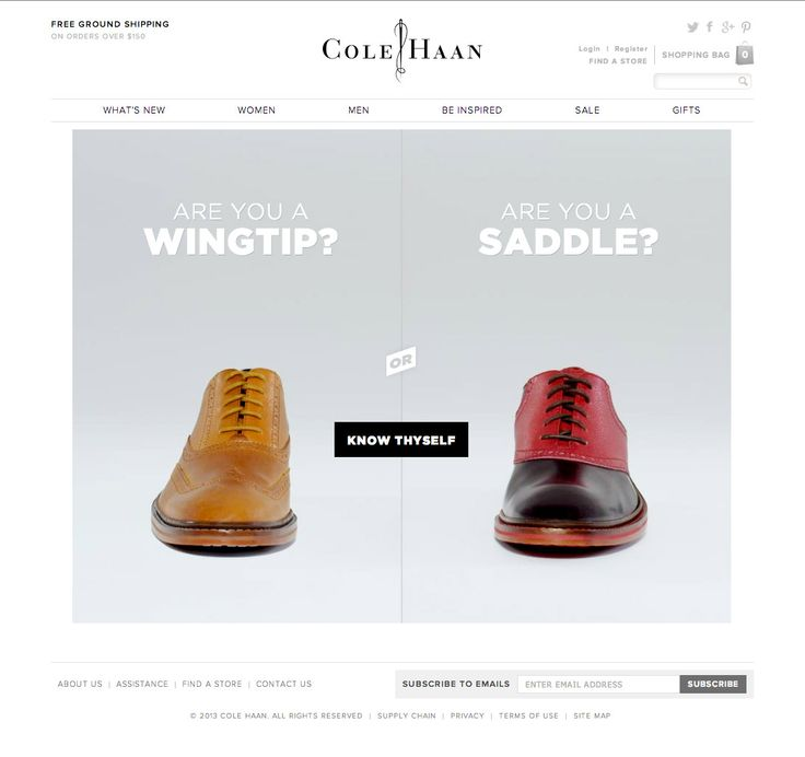 Stinkdigital - Cole Haan - Wingtip or Saddle?