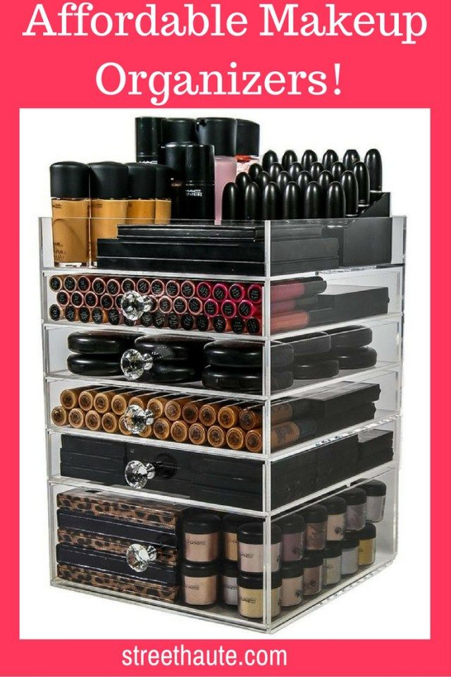 Acrylic Makeup Organizers! Affordable! :http://streethaute.com/beauty-talk/acrylic-makeup-organizers-affordable/
