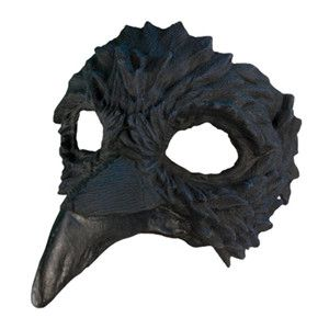 Adult Raven Halloween Costume Half Mask