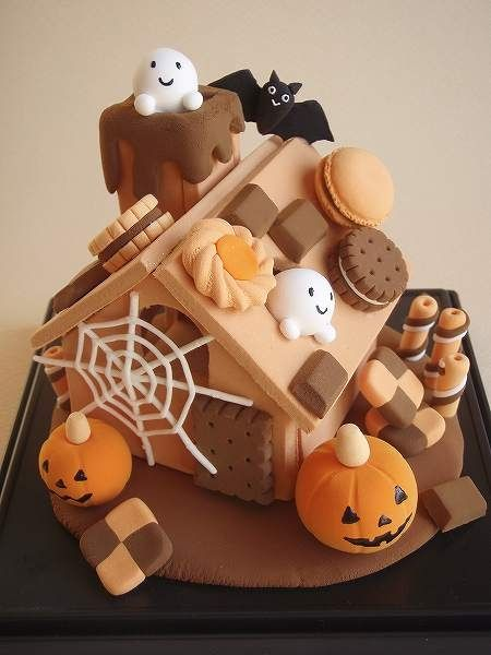 【K様オーダー品】怖くて可愛いハロウィンのお菓子の家   ホーム&リビング > インテリア小物 > その他インテリア小物   ハンドメイド・手作り作品の通販、販売 tetote(テトテ)