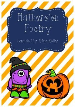 A collection of Hallowe'en poetry for use with a variety of class levels during the month of October*****************************************************************************Poetry Anthology Check out this free  collection of poemsPoetry Anthology