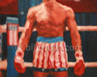 Sylvester Stallone Rocky Balboa Rocky 4 Drago art print 12x16 signed and dated Bill Pruitt