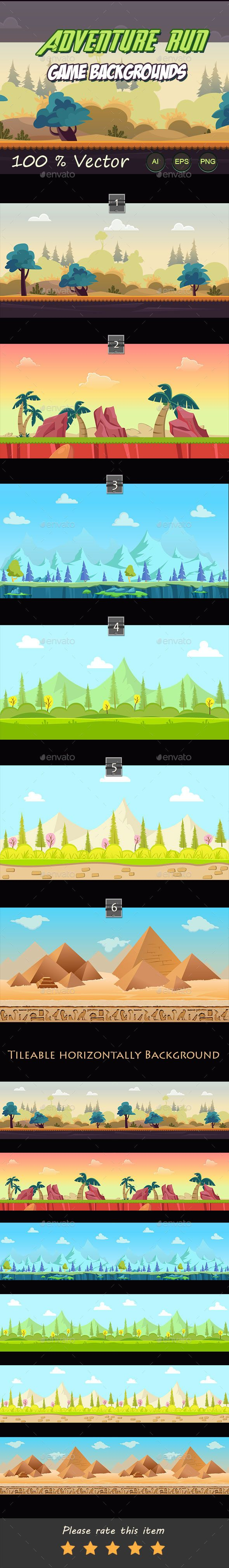 Adventure run game backgrounds - Backgrounds Game Assets