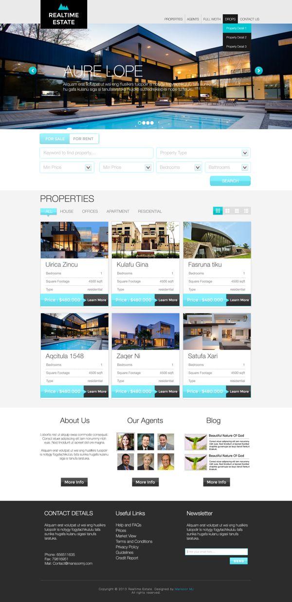 Realtime Estate by Mansoor MJ, via Behance
