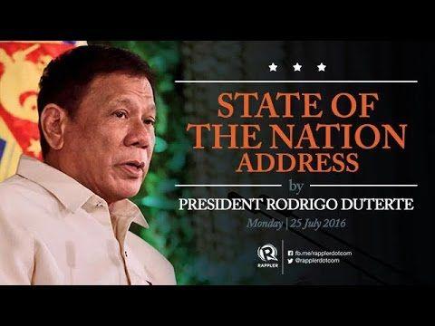 Live: President Duterte's State of the Nation Address (SONA) 2016 - YouTube