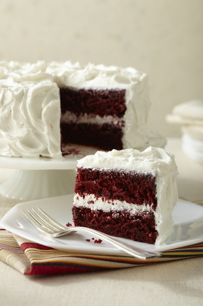 Beautiful Allergen-free, Gluten-free, Vegan Red Velvet Cake! Make sure and read the comments for some great tips (i.e. using wheat instead of GF flour). Thank you Cybele Pascal!