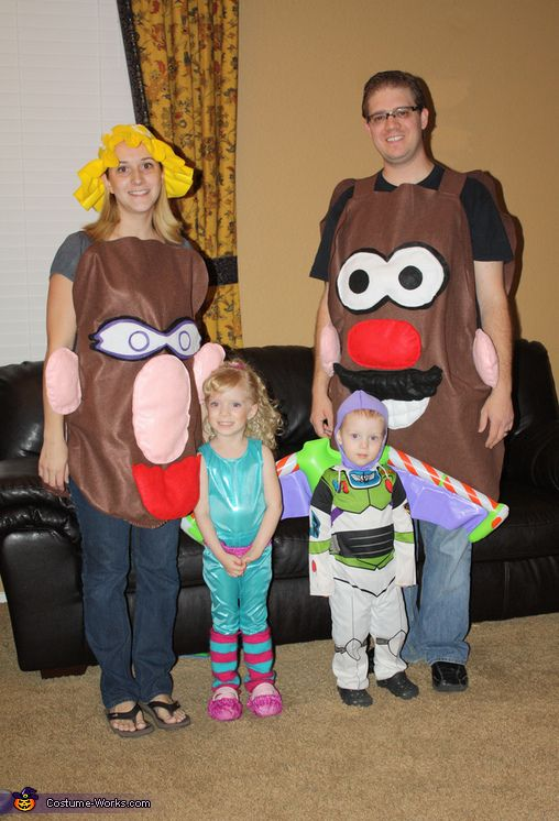 toy story 3 family costume - Family Halloween Costumes For 4