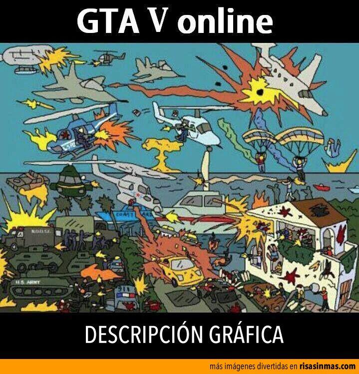 GTA V online, descripción gráfica.