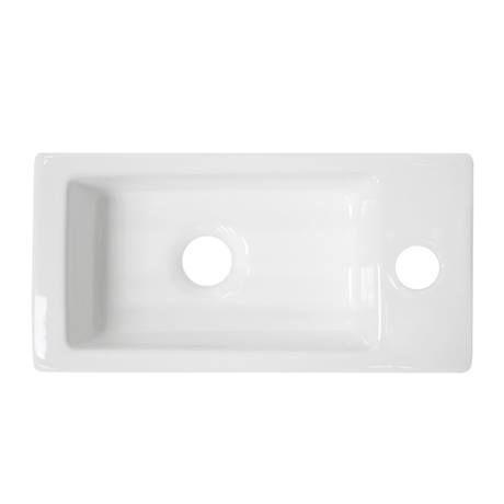 Rondo Wall Hung Small Cloakroom Basin 1TH - 365 x 185mm