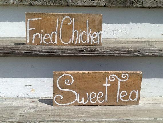 Set of 6 wedding food signs, wedding reception food labels, rustic wedding, barn wedding, country wedding, beach wedding on Etsy, $35.00