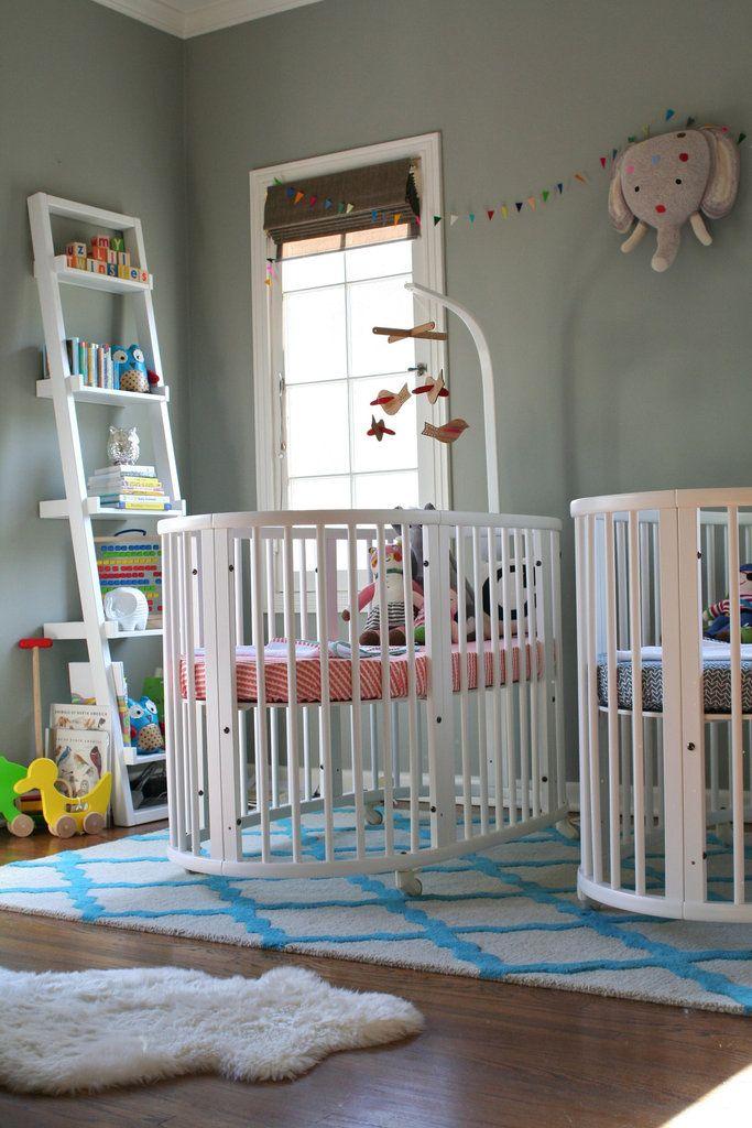 Cute nursery with the Stokke iSleep crib
