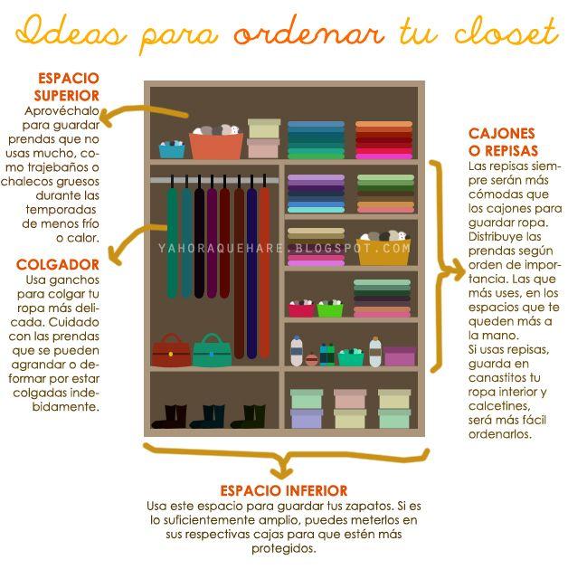 Las 25 mejores ideas sobre como organizar un closet en for Como organizar mi armario