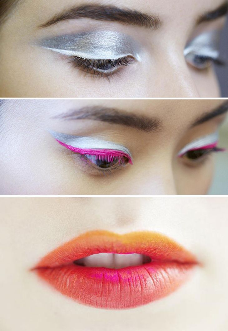 Futuristic eye makeup spotted on the Dior runway for Fall #EyeMakeupIdeas