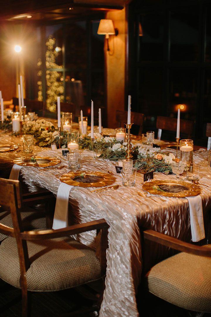 Elegant tablescape inside the Park Hyatt Beaver Creek Resort & Spa