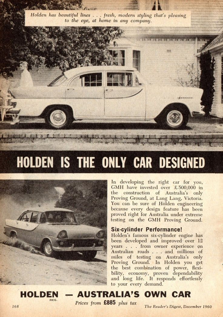 https://flic.kr/p/KGGTdy | 1960 FB Holden Special Sedan Page 1 Aussie Original Magazine Advertisement