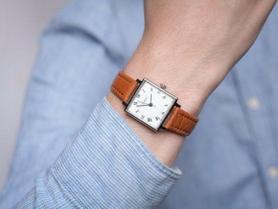 Square face soviet watch Raketa  classical wrist by somesoviet
