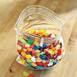 This is just a glass bowl that looks like a baggie