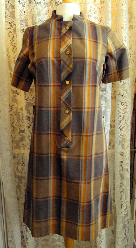 Betty Hartford Vintage 1960s Plaid Shift Dress on Etsy at RetroRosiesVintage SOLD