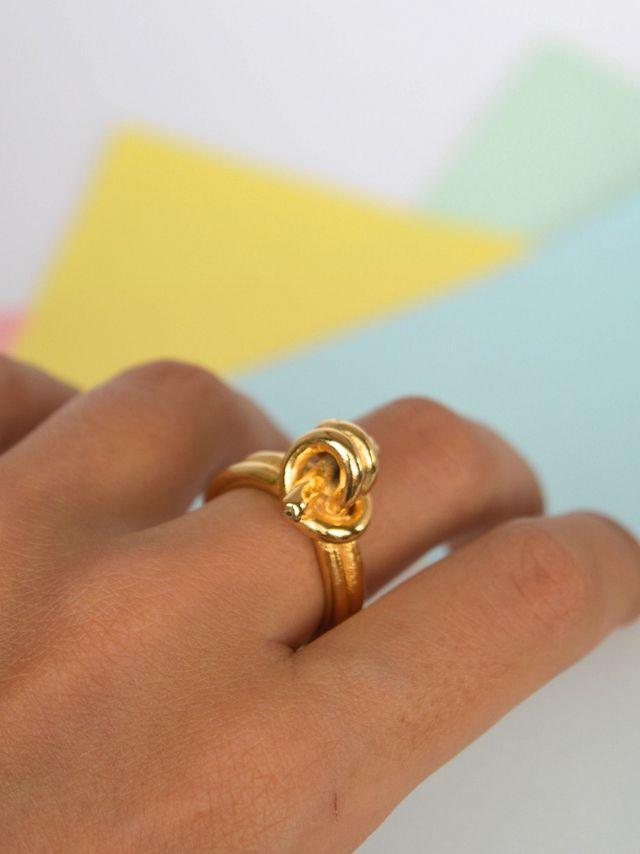 Ring larks head knot #handmade #Unakita #indiedesign #hechoamano #diseñoindependiente #currucutu #accesorios #accessories