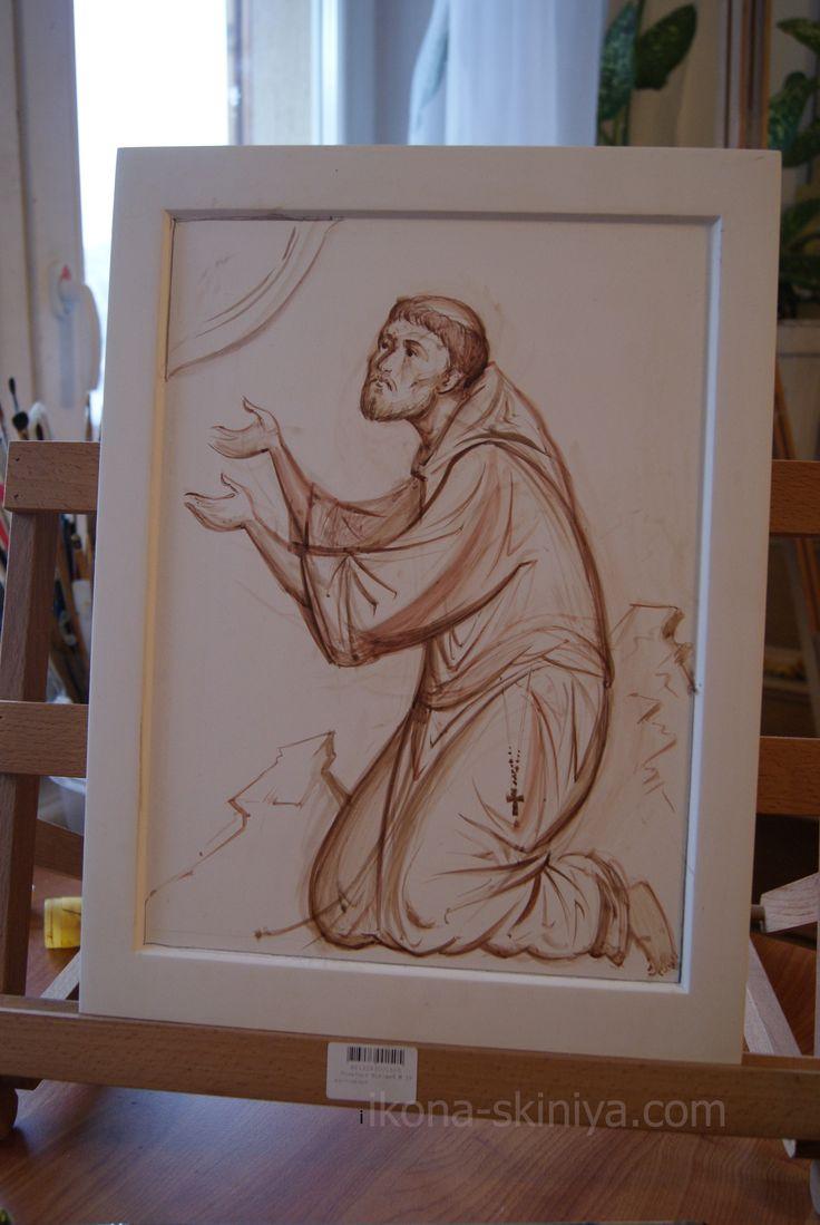 St Francisk underpainting by Anton Daineko