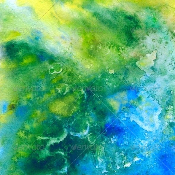 Tropic Sea. Abstract Watercolor Background (Art)