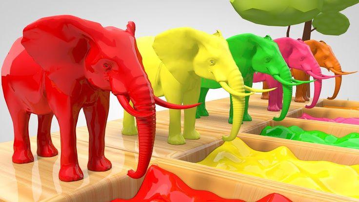Elephants Transporter Truck | Elephant Water Slide Racing | Johny Johny ...