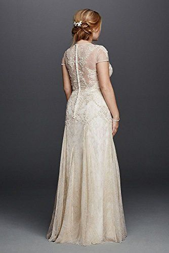 $+  Lace Plus Size Melissa Sweet Wedding Dress with Cap Sleeves Style 8MS251136,