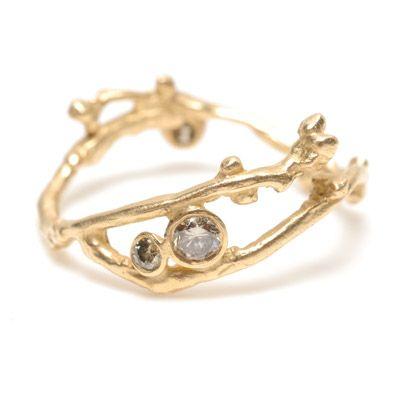 Three Diamond Bud Ring ... oh my