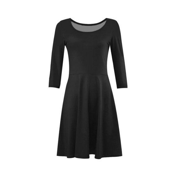 Black vintage designers dress 60s by RosemaryWellnessShop on Etsy