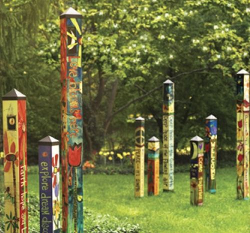 now there is even a winter garden art pole peace pole it