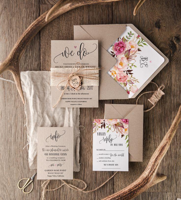 wedding invitation templates in telugu%0A Botanical wedding invites from   Love Polka Dots