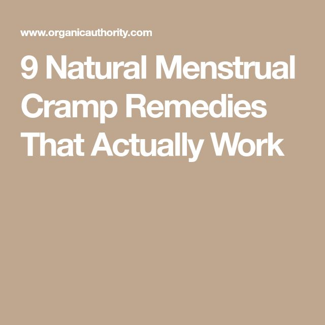 9 Natural Menstrual Cramp Remedies That Actually Work