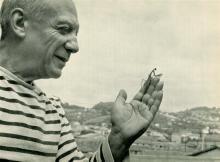 ROBERT DOISNEAU - Picasso et Mantis de Prière