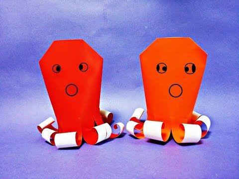 쉬운 문어 종이접기 How to Make Easy Paper Origami Octopus - YouTube