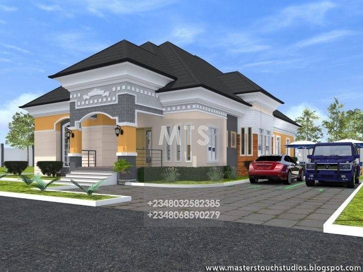 10fe5e56e148f2202ddefe0fa32d0f17 - View Small Modern Bungalow House Plans In Nigeria  Images