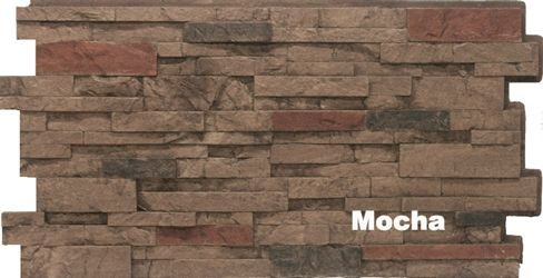 Urestone Stacked Faux Stone Panel Mocha