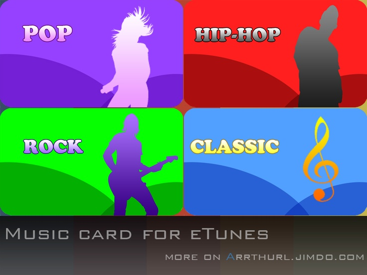 Music card foe eTunes. Designed by Arthurl