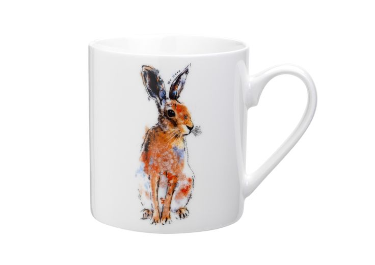 Spruce up your mug collection with this charming hare design.
