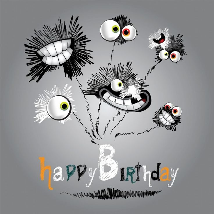 Funny Happy Birthday Cartoon Images, Animated Pictures ...