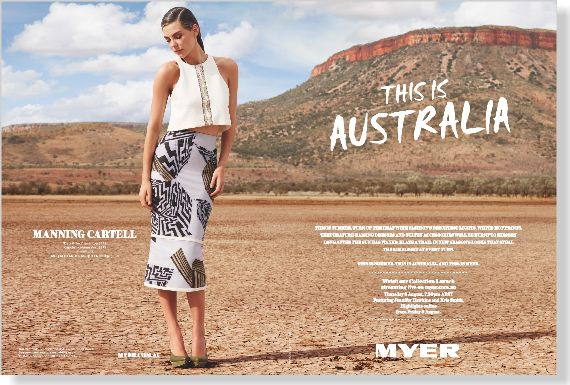 Myer. Clipped from ©marie claire Australia using Netpage.