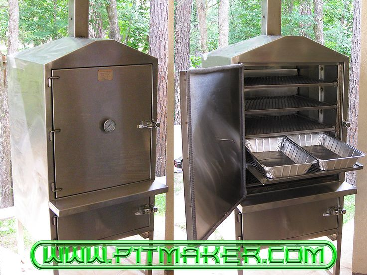 Pitmaker in Houston, Texas. BBQ Smoker