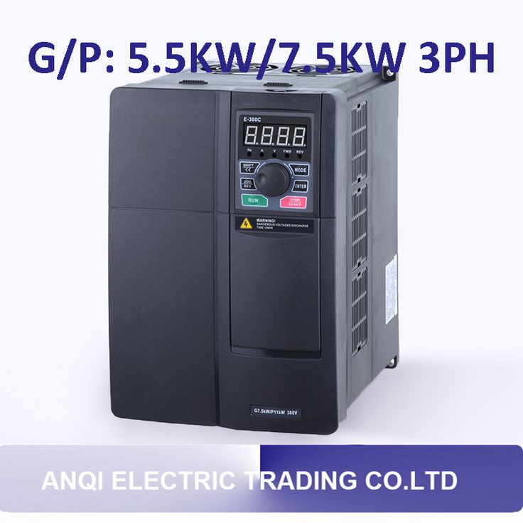 G/P 5.5kw/7.5KW high performance frequency converter 3PH variable frequency drive VFD vector control transducer for motor pump #Affiliate