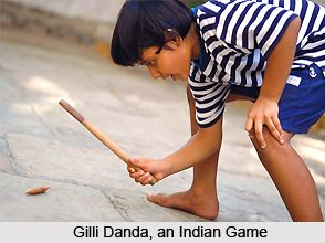 Gilli Danda is a Traditional Sport in which there is use of bat and ball. The danda acts as the bat and is used to hit the gilli or the ball. To know more about this traditional sports visit the page. #sports #traditionalgames #rural