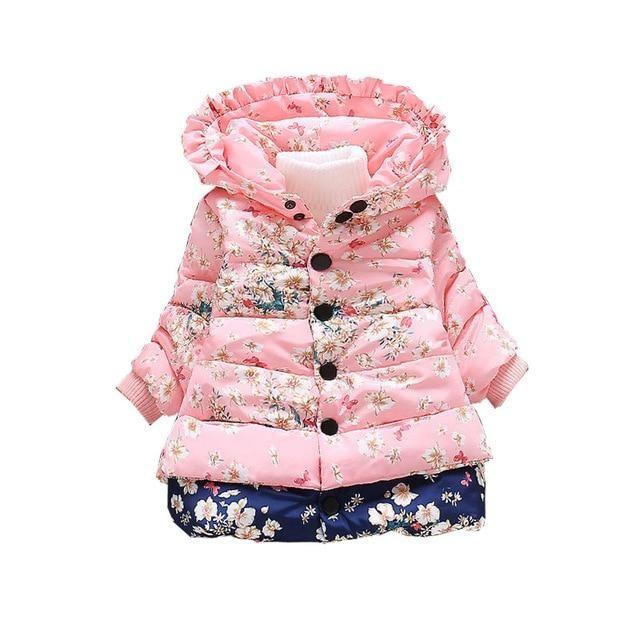 Kids Baby Girl Boys Winter Cotton Fur Hooded Coat Jacket Thick Warm Zip Outwear